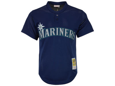 Seattle Mariners Ken Griffey Jr. Mitchell and Ness MLB Men's Authentic Mesh Batting Practice V-Neck Jersey