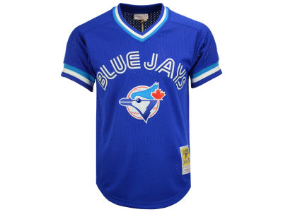 Toronto Blue Jays Joe Carter Mitchell and Ness MLB Men's Authentic Mesh Batting Practice V-Neck Jersey