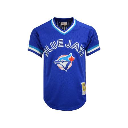 Toronto Blue Jays Joe Carter Mitchell & Ness MLB Men's Authentic Mesh Batting Practice V-Neck Jersey