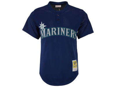 Seattle Mariners Randy Johnson Mitchell and Ness MLB Men's Authentic Mesh Batting Practice V-Neck Jersey