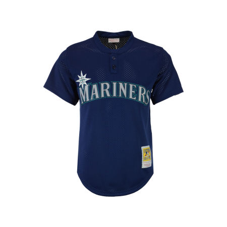 Seattle Mariners Randy Johnson Mitchell & Ness MLB Men's Authentic Mesh Batting Practice V-Neck Jersey