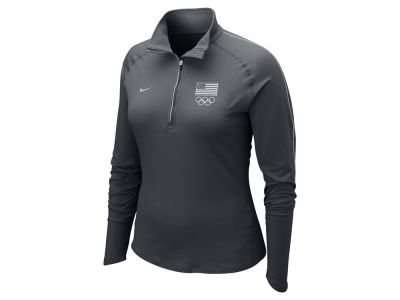Nike USA Women's Dri Fit 1/4 Zip Pullover Jacket