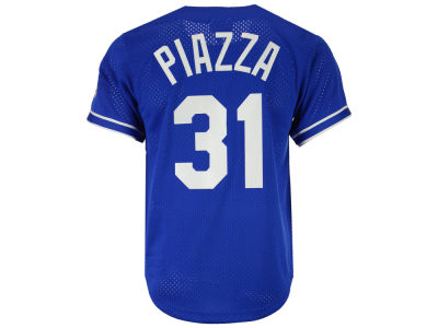 Los Angeles Dodgers Mike Piazza Mitchell & Ness MLB Men's Authentic Mesh Batting Practice V-Neck Jersey
