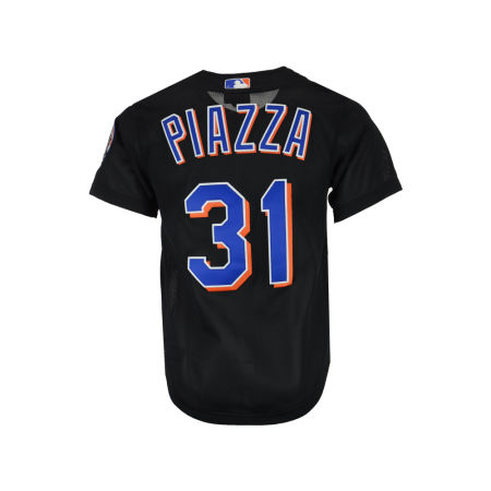 New York Mets Mike Piazza Mitchell & Ness MLB Men's Authentic Mesh Batting Practice V-Neck Jersey