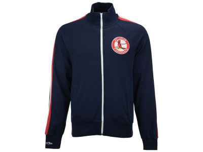 St. Louis Cardinals Mitchell and Ness MLB Men's Division Terry Track Jacket