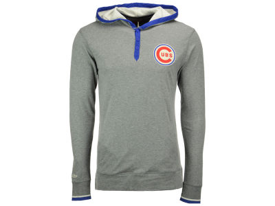 Chicago Cubs Mitchell and Ness MLB Men's Seal The Win Hooded Long Sleeve T-Shirt