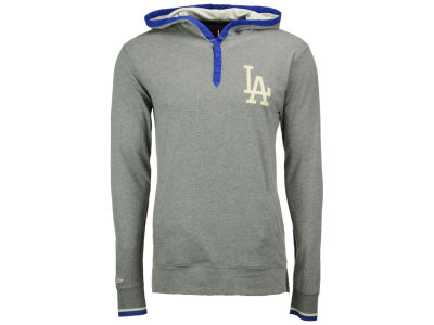 Los Angeles Dodgers Mitchell & Ness MLB Men's Seal The Win Hooded Long Sleeve T-Shirt