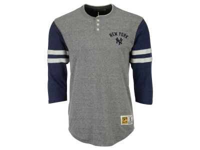 New York Yankees Mitchell and Ness MLB Men's Home Stretch Henley T-shirt