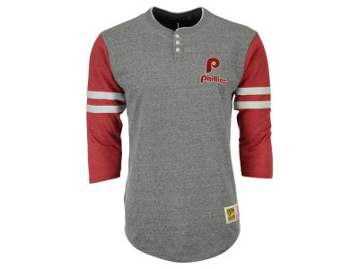 Philadelphia Phillies Mitchell & Ness MLB Men's Home Stretch Henley T-shirt