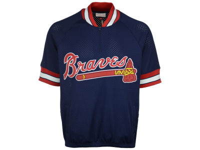 Atlanta Braves Mitchell and Ness MLB Men's BP Mesh Jersey Top