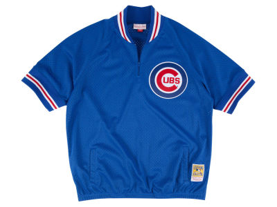 Chicago Cubs Mitchell and Ness MLB Men's BP Mesh Jersey Top