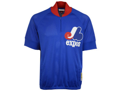Montreal Expos Mitchell and Ness MLB Men's BP Mesh Jersey Top