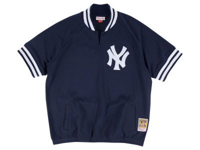 New York Yankees Mitchell and Ness MLB Men's BP Mesh Jersey Top