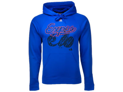 Montreal Expos Majestic MLB Men's Razoredge Synthetic Hoodie