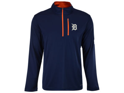 Detroit Tigers Majestic MLB Men's Six-Four-Three 1/2 Zip Pullover