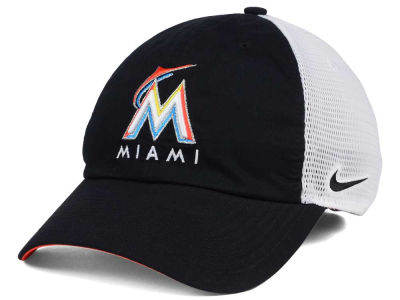 Miami Marlins Nike MLB Dri-Fit Mesh Swoosh Adjustable Cap