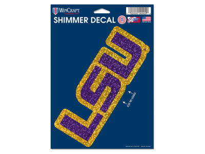 "LSU Tigers 5""x7"" Shimmer Decal"