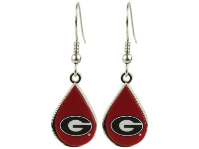 Georgia Bulldogs Tear Drop Earrings