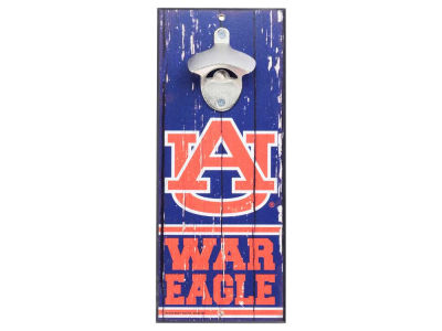 Auburn Tigers Wood Sign Bottle Opener