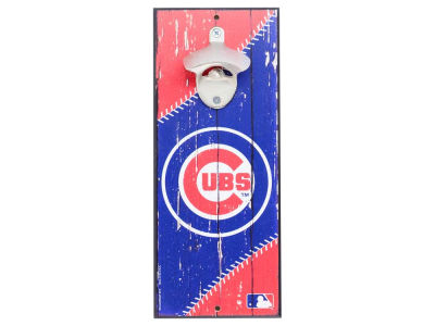 Chicago Cubs Wincraft Wood Sign Bottle Opener