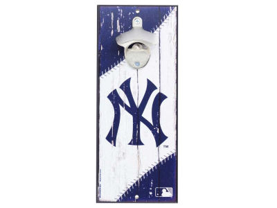New York Yankees Wood Sign Bottle Opener