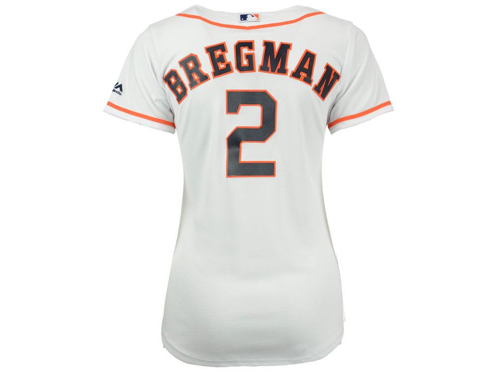 Houston Astros Alex Bregman Majestic MLB Women s Cool Base Player Replica  Jersey  3460a6f12