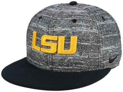 LSU Tigers Nike NCAA Col True Heathered Snapback Cap