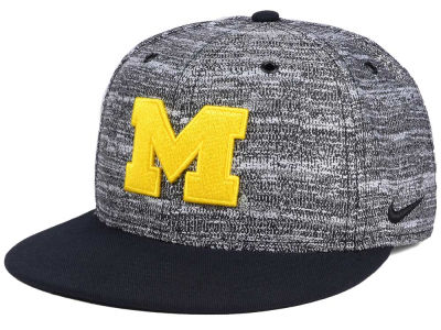 Michigan Wolverines Nike NCAA Col True Heathered Snapback Cap