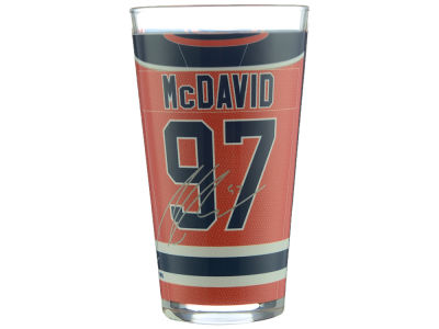 Edmonton Oilers Connor McDavid NHL Player 16oz Sublimated Glass