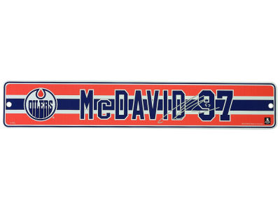 Edmonton Oilers Connor McDavid NHL Player 4x23 Street Sign
