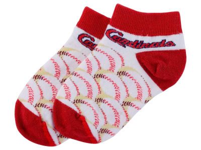 St. Louis Cardinals For Bare Feet Toddler Baseball Stack Socks