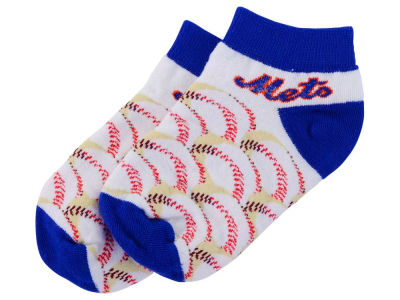 New York Mets For Bare Feet Toddler Baseball Stack Socks