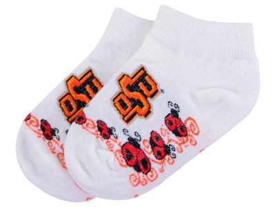 Oklahoma Sooners For Bare Feet Toddler Ladybug Pattern Socks