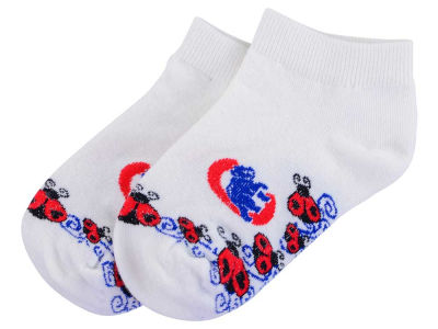 Chicago Cubs For Bare Feet Toddler Ladybug Pattern Socks