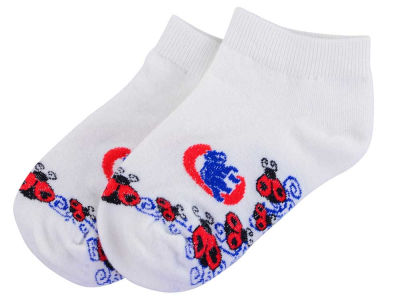 Chicago Cubs For Bare Feet Infant Ladybug Pattern Socks