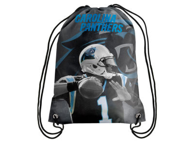 Carolina Panthers Cam Newton Player Printed Drawstring Bag