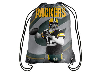 Green Bay Packers Aaron Rodgers Forever Collectibles Player Printed Drawstring Bag