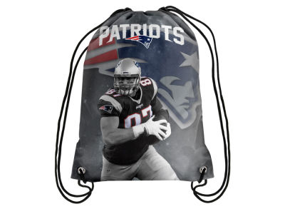 New England Patriots Rob Gronkowski Forever Collectibles Player Printed Drawstring Bag