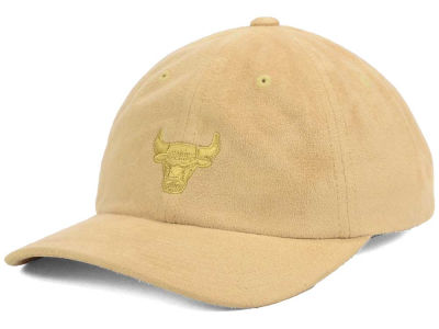 Chicago Bulls Mitchell and Ness NBA Mitchell and Ness Micro Suede Dad Hat Strapback Cap