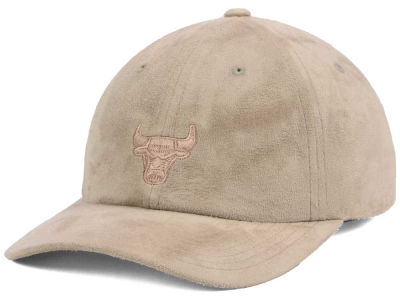 Chicago Bulls Mitchell & Ness NBA Mitchell and Ness Micro Suede Dad Hat Strapback Cap