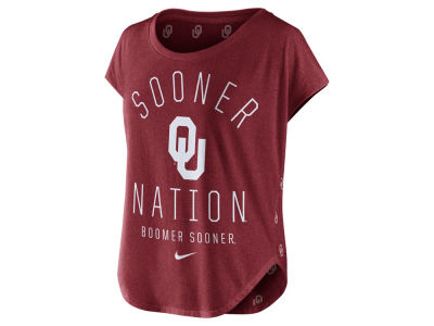 Oklahoma Sooners Nike NCAA Women's Triblend Gameday Signal Top
