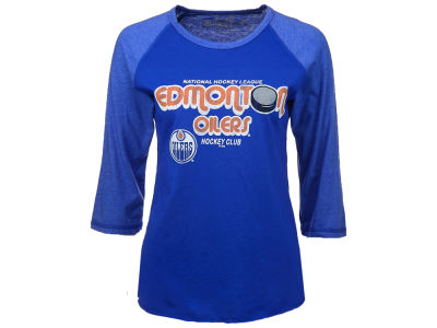 Edmonton Oilers Retro Brand NHL Women's Georgia 3/4 Sleeve T-Shirt