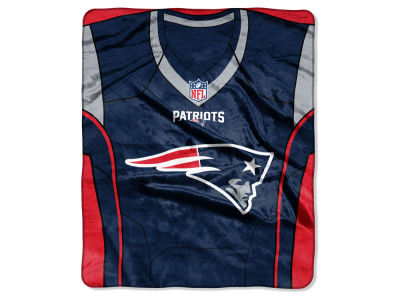"New England Patriots The Northwest Company NFL 50x60 ""Jersey"" Plush Raschel Blanket"