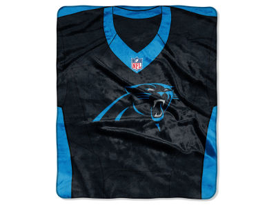 "Carolina Panthers NFL 50x60 ""Jersey"" Plush Raschel Blanket"
