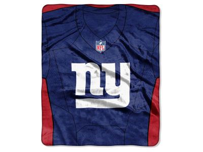 "New York Giants NFL 50x60 ""Jersey"" Plush Raschel Blanket"