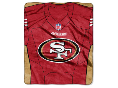 "San Francisco 49ers The Northwest Company NFL 50x60 ""Jersey"" Plush Raschel Blanket"