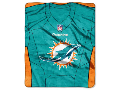 "Miami Dolphins The Northwest Company NFL 50x60 ""Jersey"" Plush Raschel Blanket"