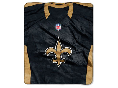 "New Orleans Saints NFL 50x60 ""Jersey"" Plush Raschel Blanket"