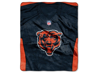 "Chicago Bears NFL 50x60 ""Jersey"" Plush Raschel Blanket"