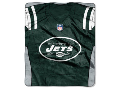 "New York Jets NFL 50x60 ""Jersey"" Plush Raschel Blanket"